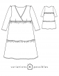 sewing pattern Technical drawings Eugenie dress, front and back view