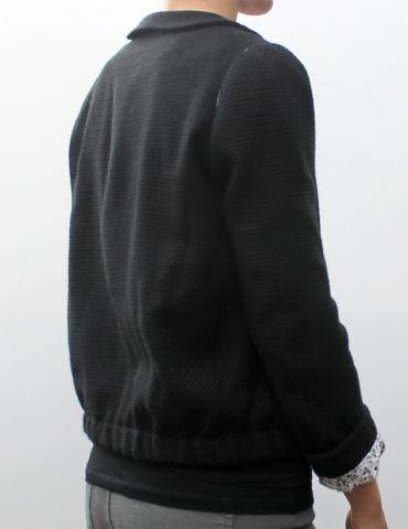 Claudie jacket in black cotton, elasticised version
