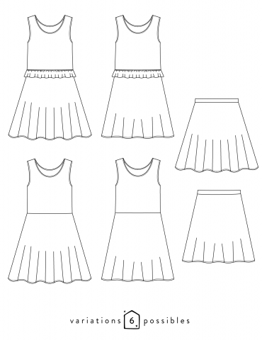 Petite Lune Dress Or Skirt For Children Sewing Pattern Paper